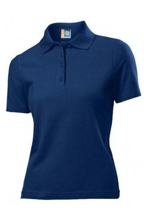 Playera Brans Tipo Polo Para Mujer Uniforme S-xl Azul Marino ... 5c02638773596