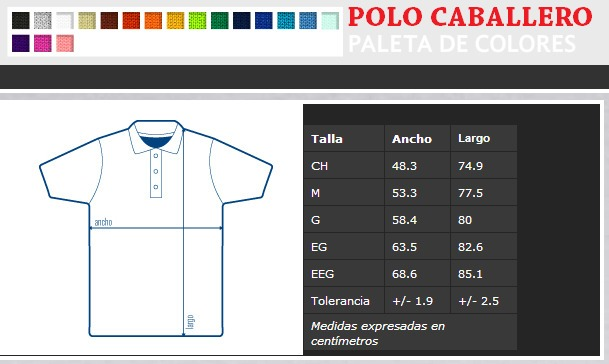 Playera Polo Pique Color Para Ser Bordada 100% Algodon -   105.00 en ... f948722537de8