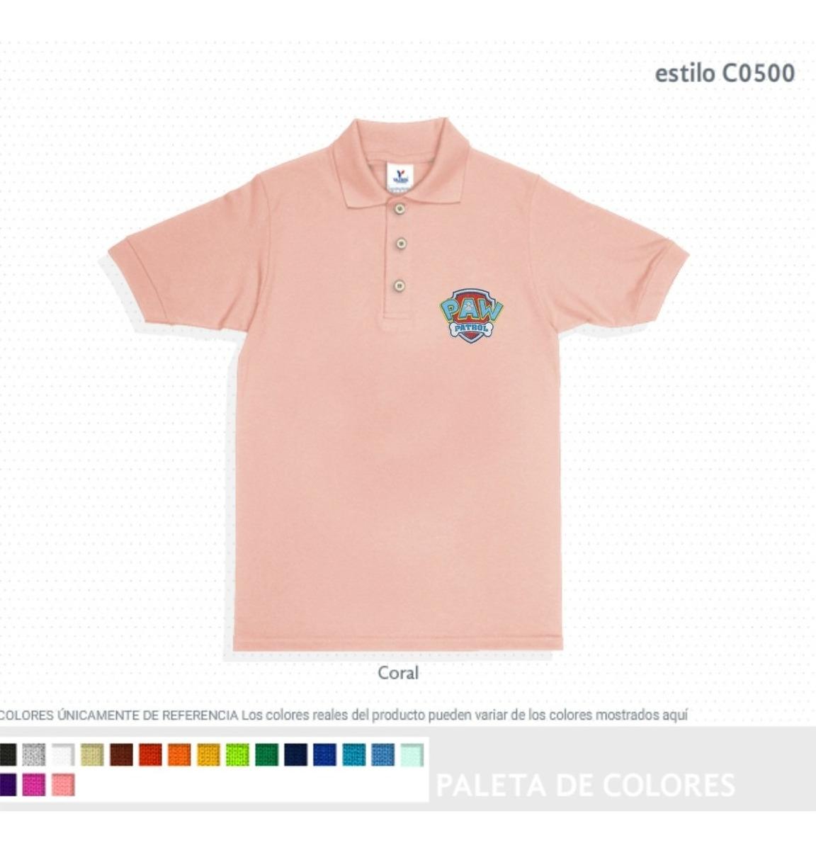 3a7e939b090 Playera Polo Pique Color Para Ser Bordada 100% Algodon - $ 105.00 en ...
