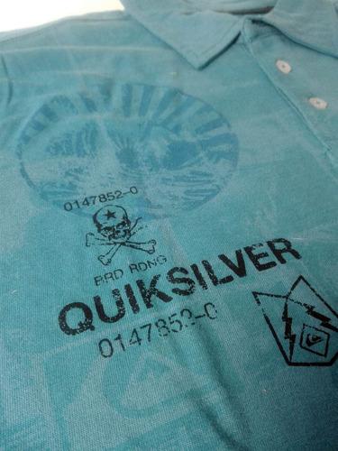playera polo quicksilver algodon original moda remate