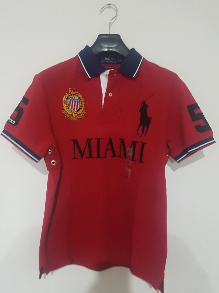 bb129ed6e8ad9 playera polo ralph lauren alusiva a miami custom slim fit ! Cargando zoom.