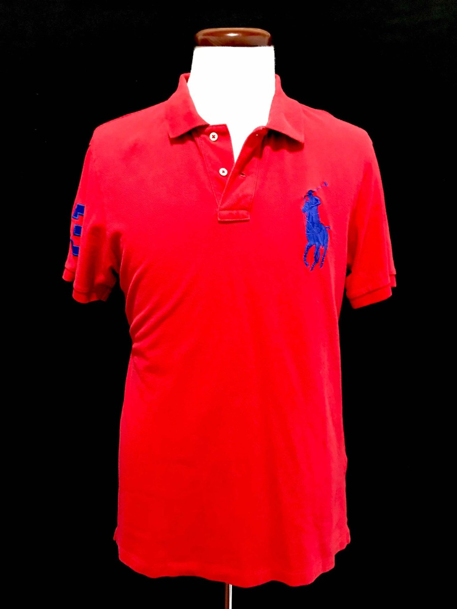 c61deba601b5d playera polo ralph lauren roja big pony 100% cotton large l. Cargando zoom.