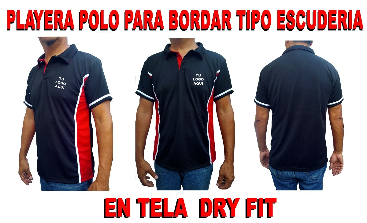 d396a84cbfd01 Playera Polo Tipo Escuderia Para Bordar Dry Fit -   185.00 en ...