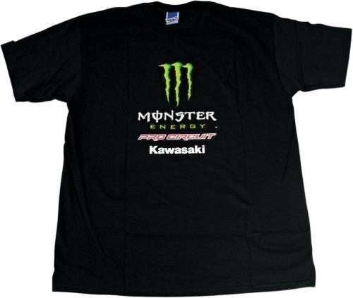 playera pro circuit monster mujer manga corta negro/verde lg