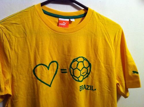 playera puma i love brazil