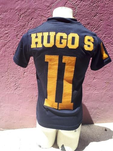 playera pumas retro hugo sanchez #11 mangacorta envio gratis