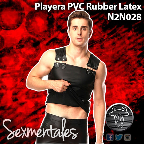 playera pvc rubber leather n2n028 sexmentales
