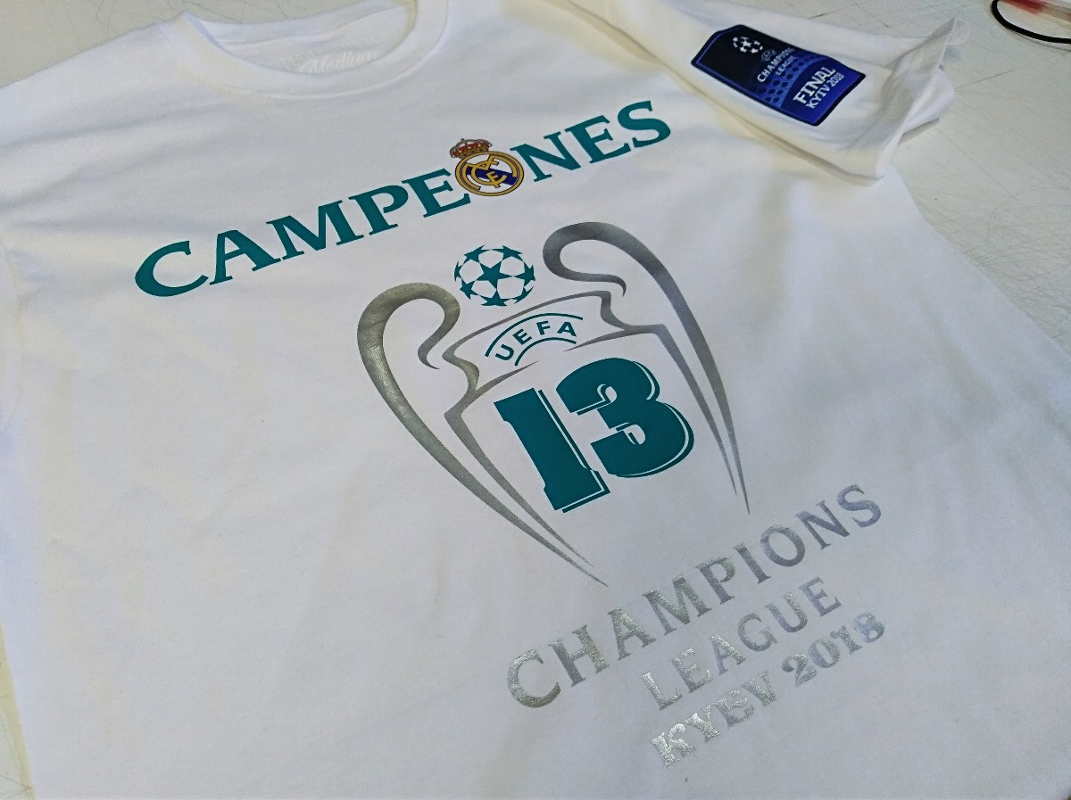 537be92ca9e9b playera real madrid campeon champions league 2018 blanca. Cargando zoom.
