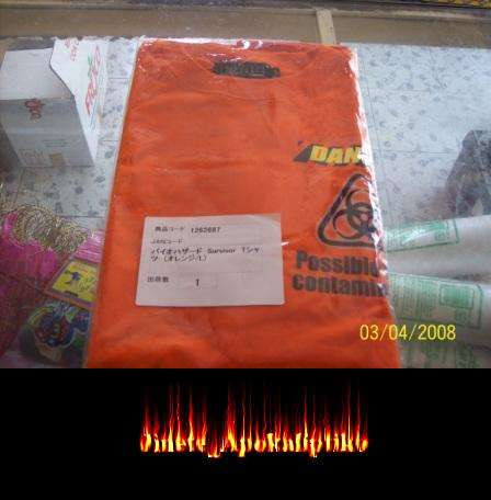 playera resident evil naranja biohazard capcom ps3 japon sv9