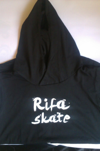 playera  rifa skate - surf -  sin mangas  con gorro