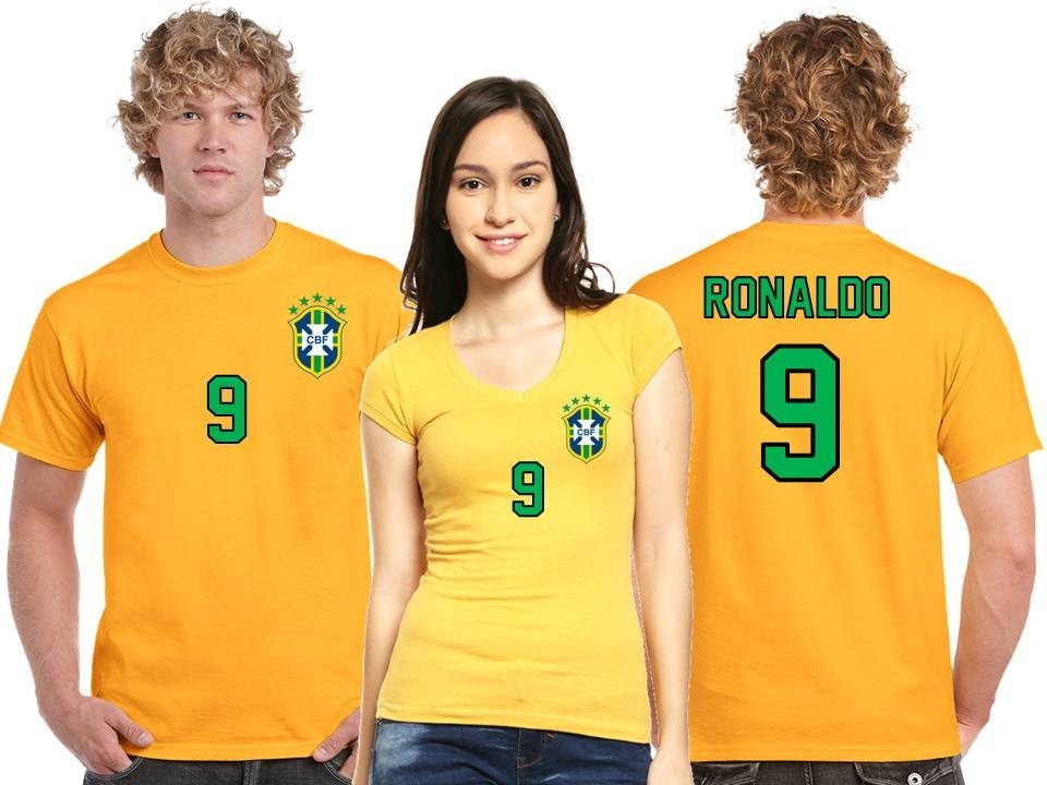 Playera Ronaldo Jersey Seleccion Brasil Mundial Rusia 2018 - $ 190.00 en Mercado Libre