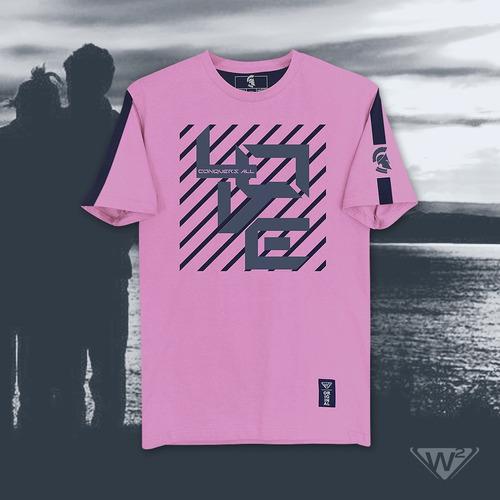 playera rosa w2 mod. el amor lo conquista todo