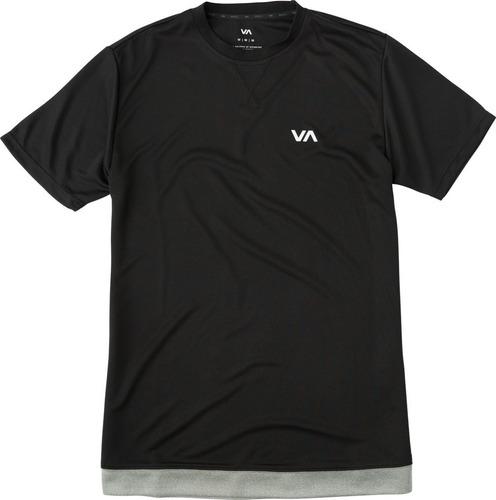 playera rvca, mod. runner mesh  ss shirt, color blk.