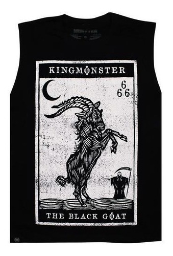 playera sin mangas logo black goat/kingmonster