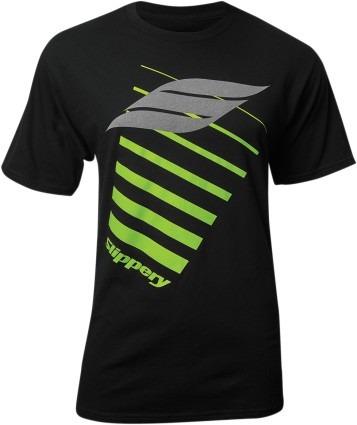 playera slippery logo para hombre manga corta negra xl