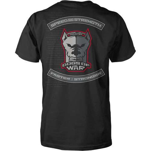 playera speed & strength dogs of war hombre negro 2xl