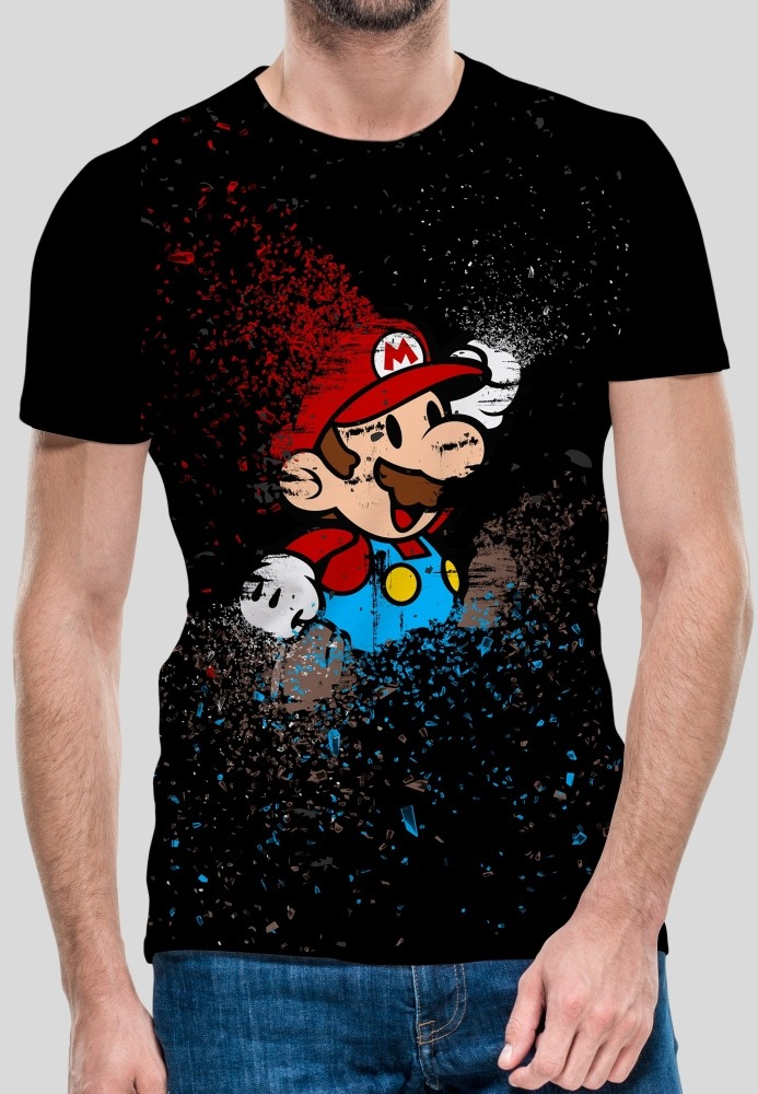 Jugarera Sublimada Dry Fit Mario Bros