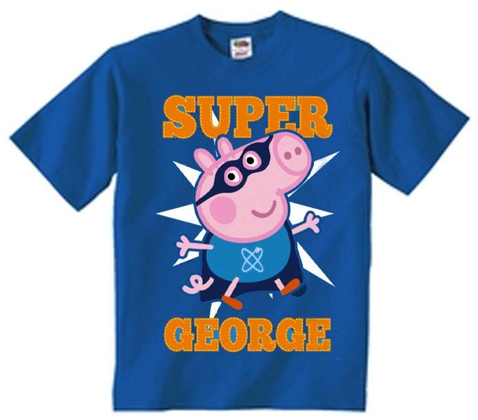Playera Super George Pig Peppa Pig George Todas Las Tallas ... fb1236adfb06