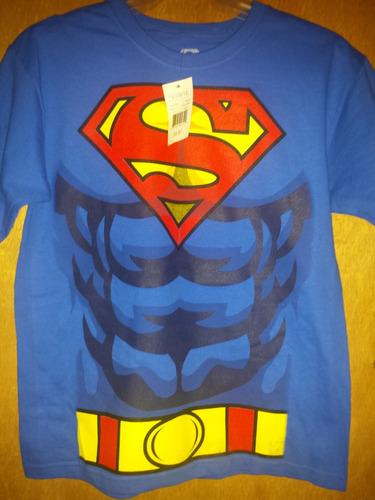 playera superman torso niño original dc comics importada