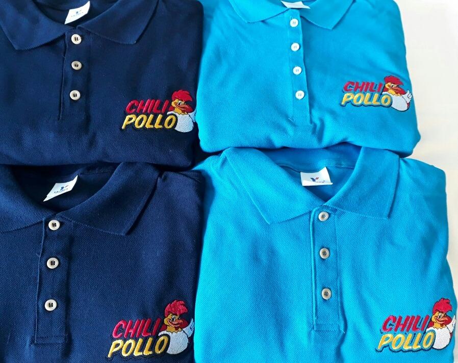 6b2310c6b042a Playera T. Polo Bordada Con El Logo De Tu Empresa