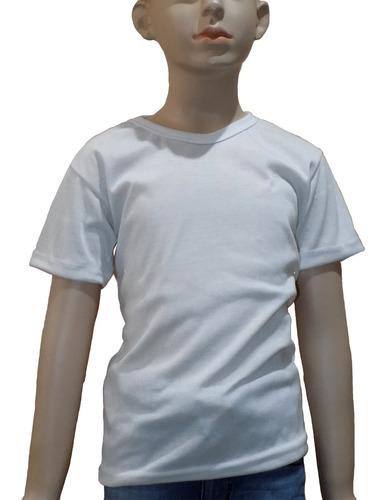 playera tacto algodón grueso para sublimar, infantil
