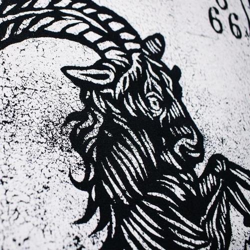 playera tank top logo black goat /kingmonster