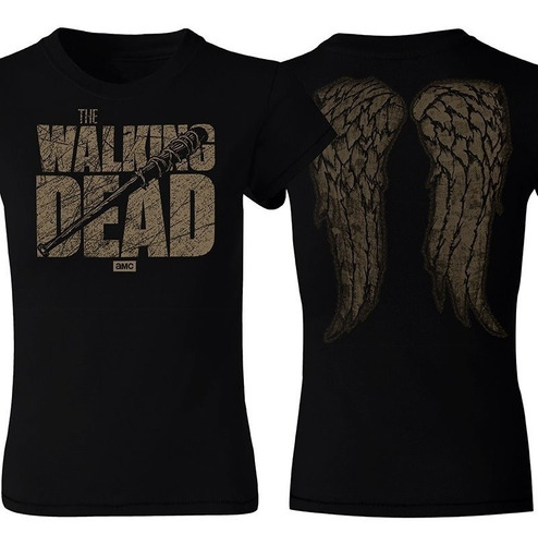 playera the walking dead, negan, daryl dixon, zombies