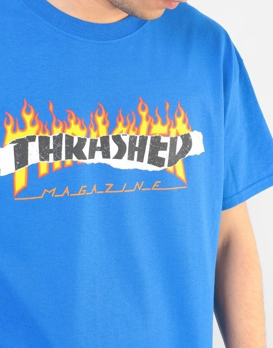 7532bcab19ab Playera Thrasher Ripped T-shirt Royal Blue 144668m - $ 450.00 en ...