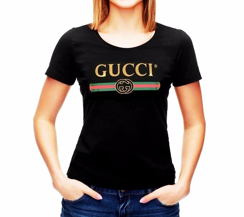 0b9823de3a900 Playera Tipo Gucci Para Dama En Color Negra Y Blanca -   349.00 en ...