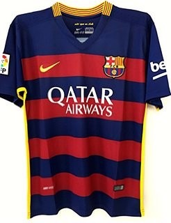 15fdddcf676a3 Playera Tipo Jersey Barcelona Messi O Neymar Local 2016 -   839.00 ...