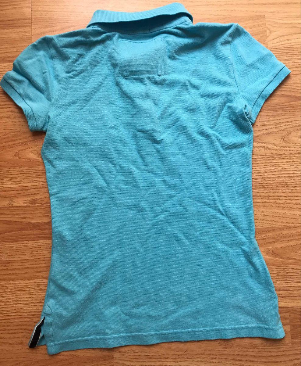 Playera Tipo Polo Abercrombie   Fitch Talla S Azul Cielo -   250.00 ... bc1088ec9bf92