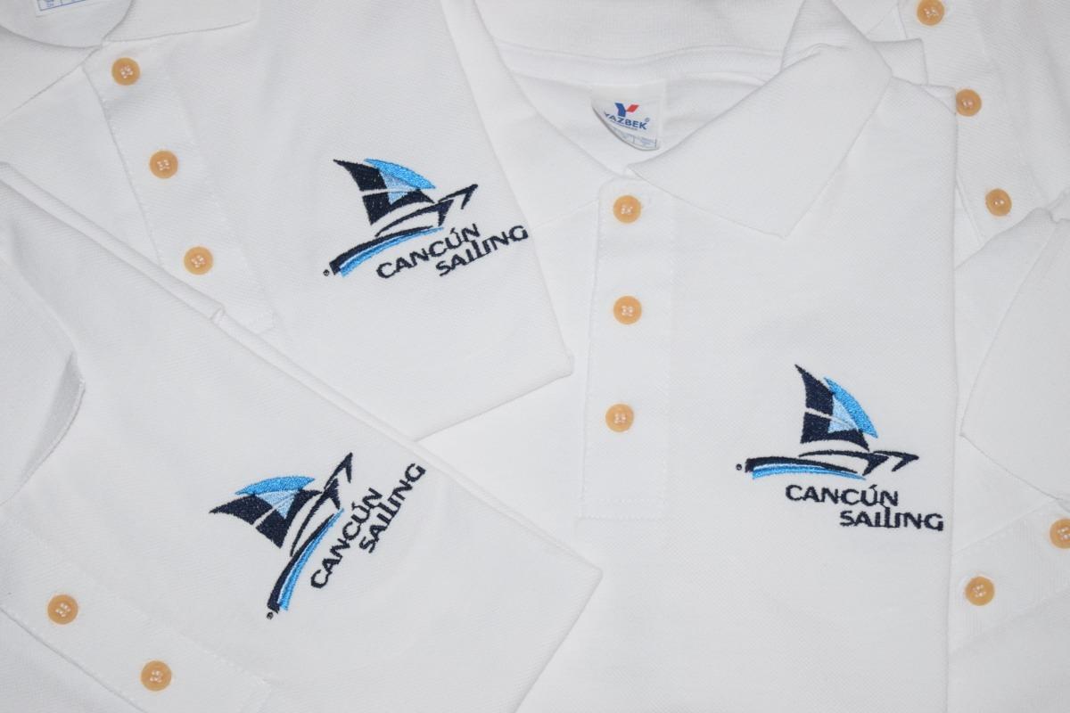 Playera Tipo Polo Bordados Con El Logo De Tu Empresa -   120.00 en ... 871628549a12b