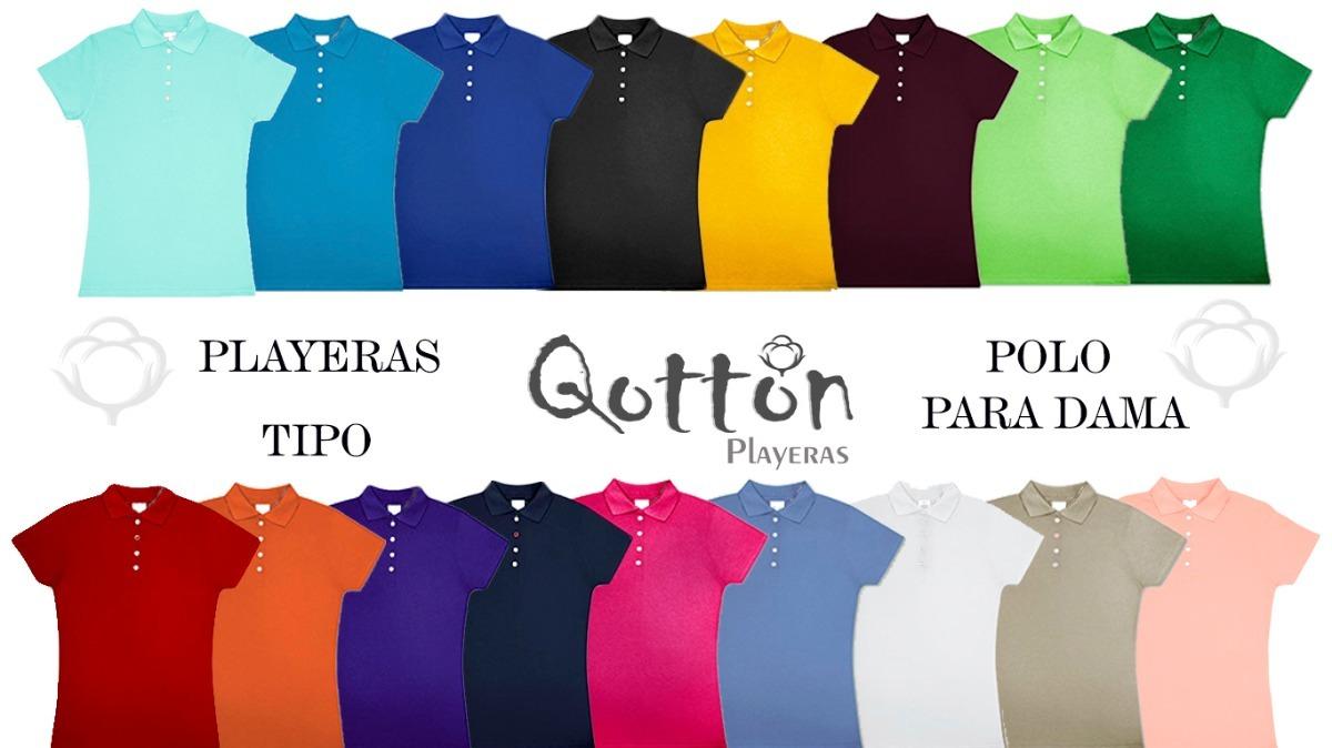 a53b4a8435c5f Playera Tipo Polo Dama Y Caballero 100% Algodon -   95.00 en Mercado ...