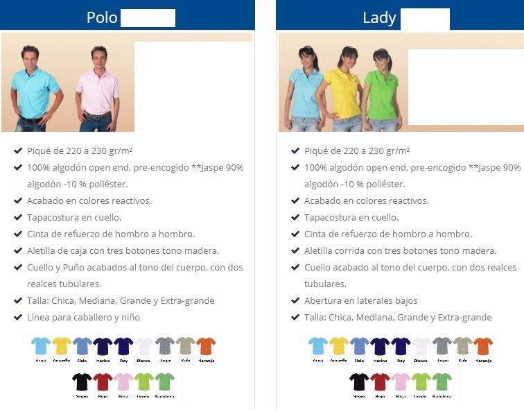 Playera Tipo Polo, Dif Colores, Mayoreo 25pzas Envío Gratis ...
