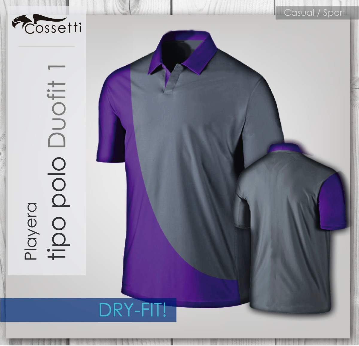 Playera Tipo Polo Dry-fit! Corte Duo-fit Combina Colores ... fc1039fe458d3