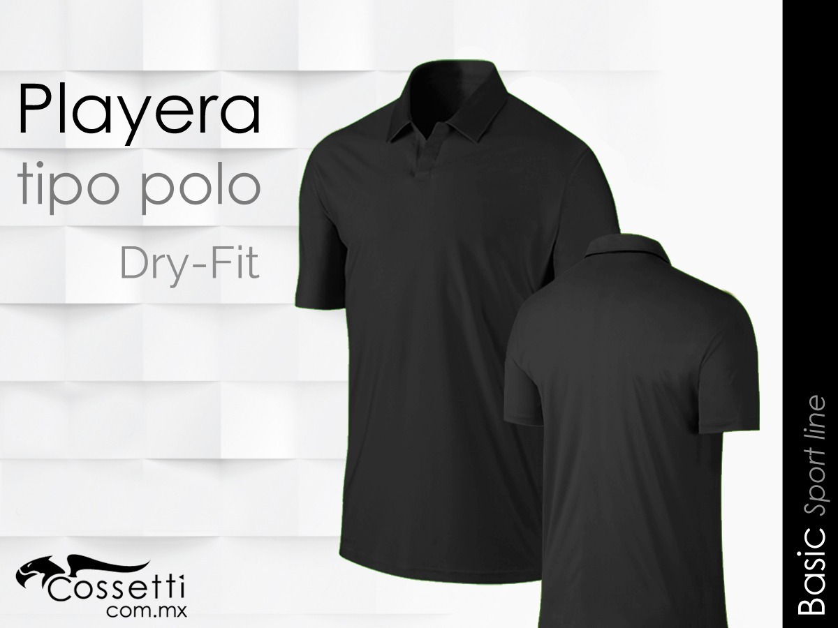 1fdfe8b88a526 playera tipo polo dry-fit personalizable 22 colores cossetti. Cargando zoom.