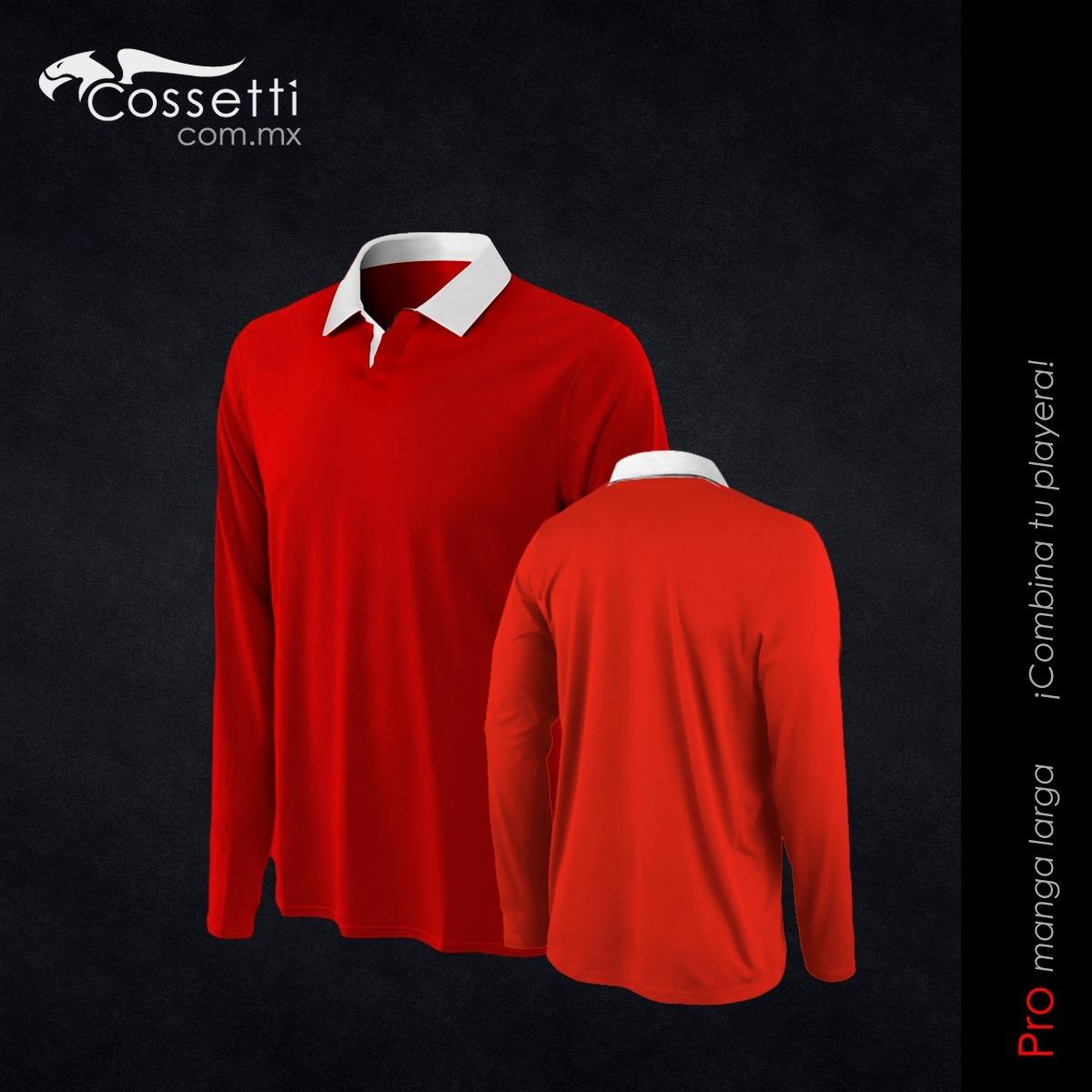 Playera Tipo Polo Manga Larga Dry Fit Hombre Cossetti -   280.00 en ... 61fb7c7f31dee