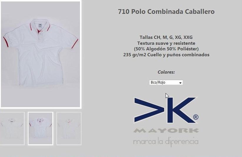 661956f9b4cc7 Playera Tipo Polo Mayork Combinadas En Bordadas O Estampadas ...