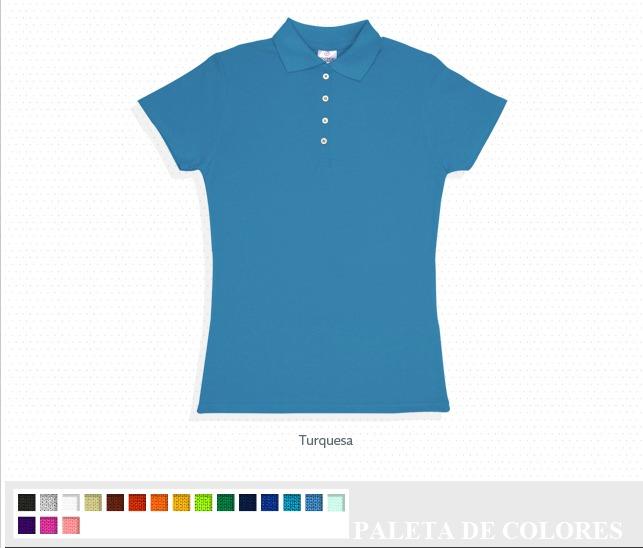 Playera Tipo Polo Para Dama Bordada Logotipo Personaliza Vbf ... 8c65d3ad23fc1