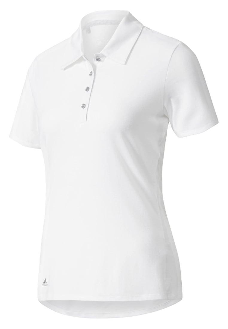 Playera Tipo Polo Para Golf adidas Blanca Para Mujer
