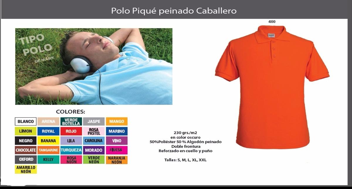 Playera Tipo Polo Pique Para Caballero Manga Corta -   133.67 en ... c1780c972c6dc