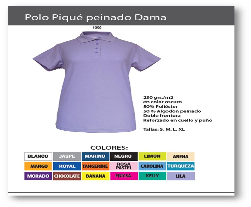 Playera Tipo Polo Pique Para Dama Manga Corta -   119.31 en Mercado ... 38d6ef59b6230