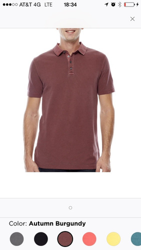 playera tipo polo talla large jferrar