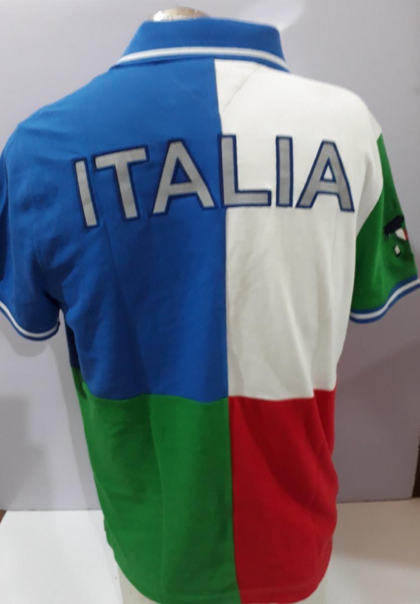 info for 118a3 54294 Playera Tipo Polo Tommy Mundial Italia 100% Original