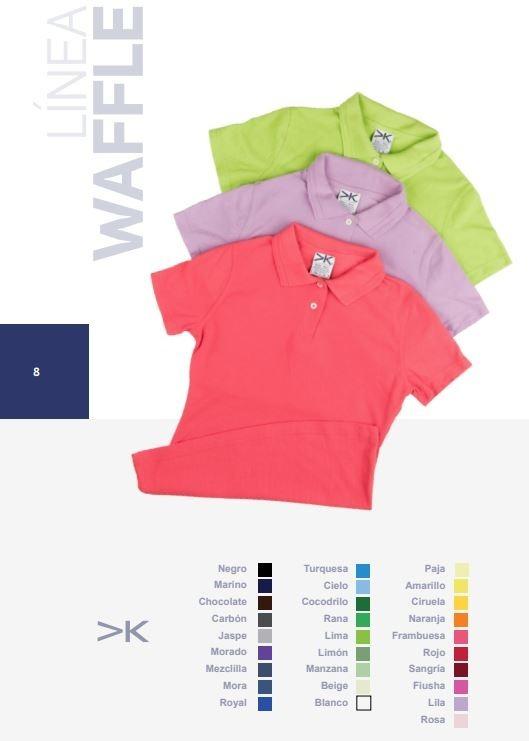 Playera Tipo Polo Waffle Blanca Y Colores -   280.00 en Mercado Libre fa8f723f70674