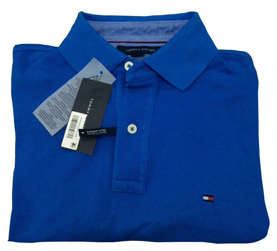 5167859d2c883 Playera Tommy Hilfiger Tipo Polo Color Azul -   790.00 en Mercado Libre