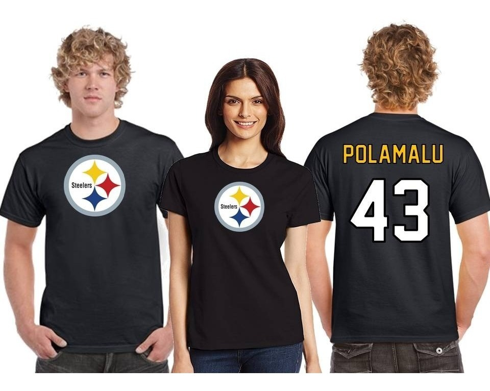premium selection 97fb3 91d3e Playera Troy Polamalu Jersey Pittsburgh Steelers Nfl