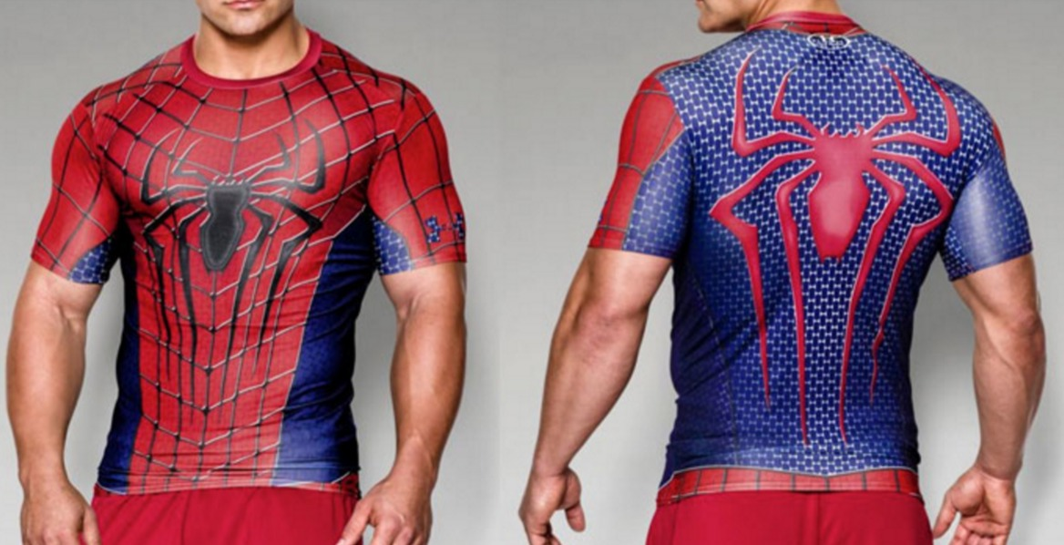 4989cb66ceedc Playera De Spiderman Under Armour -   550.00 en Mercado Libre