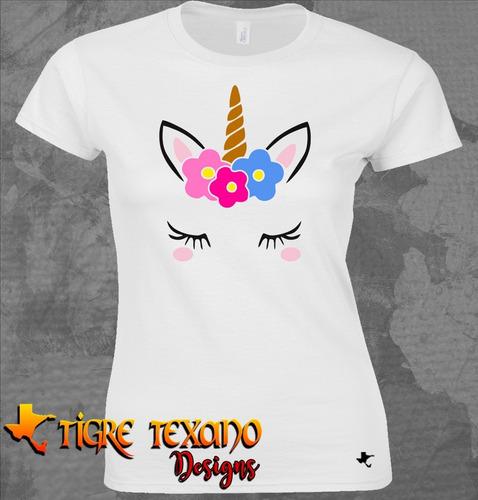playera unicornio chapitas uni-04    by tigre texano designs