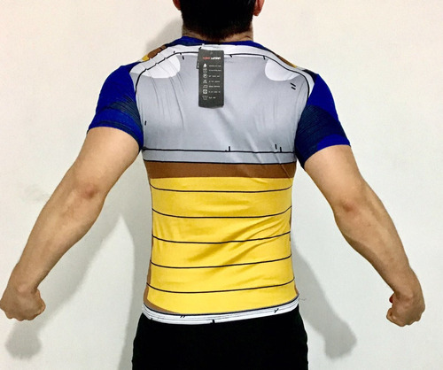 playera vegeta arm completa dragon ball crossfit
